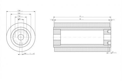 Technische tekeningen specifieke borstels - Cosma Borstelfabriek