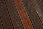 Bankirai decking before cleaning - Cosma Surface Technology