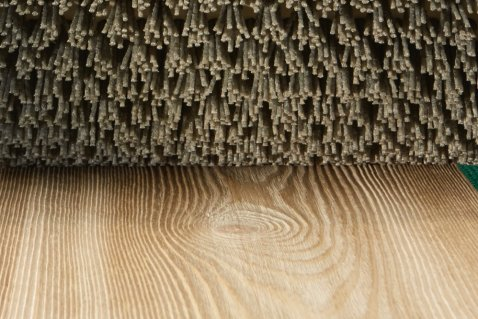 Nylon abrasive brushes for distressing wood - Cosma Surface Technology