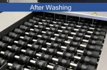 Cleaned egg transportation system after washing - Cosma Machine Factory